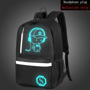 Anime Backpack School OZUKO Men Backpack New Student School kawaii cute Luminous USB Charge Laptop Computer Backpack SchoolBag For Teenager Anti-theft Boys AT_60_4