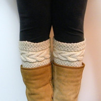 KNITTING PATTERNS - Madison Cable Boot Cuffs PATTERN