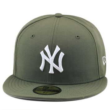 New Era New York Yankees Fitted Hat OLIVE GREEN/WHITE For air force 1