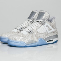 AIR JORDAN 4 (WHITE LASER 30th ANNIVERSARY) BASKETBALL SNEAKER