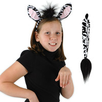 Zebra Ears and Tail Kit