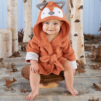 Rub a dub  Fox in the Tub Hooded Spa Robe Personalization Available