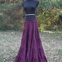 Long Pleated Tiered Skirt by sararanderson on Etsy