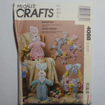 McCall's Craft Sewing Pattern 4088 Easter Hop Stuffed Bunny Home Décor