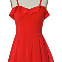 Juniors Clothing - Chloe Loves Charlie - Red Lolita Dress - chloelovescharlie.com | $45.00
