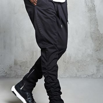 Ruched Zippered Joggers