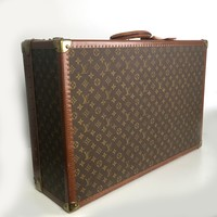 Louis Vuitton Vintage Alzer 80 Monogram Hard Sided Luggage Trunk Suitcase