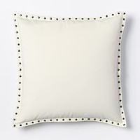 "Studded Velvet Pillow Cover - Nightshade (20"" Sq.)"