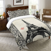Eiffel Tower Duvet Cover and Shams