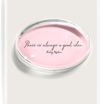 Paris Is Always Crystal Oval Paperweight