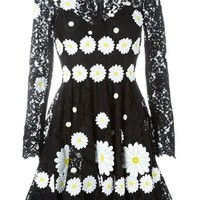 Dolce & Gabbana Daisy Appliqué Lace Dress - Julian Fashion - Farfetch.com