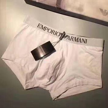 EMPORIO ARMANI 2019 new breathable and quick-drying men's boxer briefs three-piece