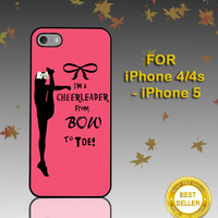 Cheers Cheerleader Bow To Toe - Photo on Hard Cover - For iPhone Case ( Select An Option )