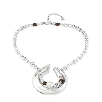 Uno de 50 Half Moon Choker Necklace