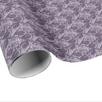 Metal Roses-07-Lt Purple-Gift Wrapping Paper