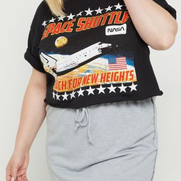 Plus NASA Space Shuttle Raw Edge Skimmer Tee