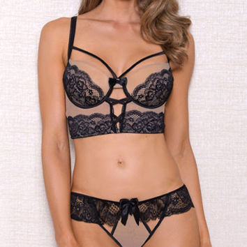 Barely There Bra Set, nude and black bra set - Yandy.com