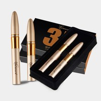 2pcs/set Eyes Makeup 3D Fiber Mascara Natural Curling Magic Extended Lengthening Eyelash Waterproof Cosmetics Eyes Kits