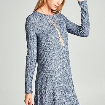 Loose Fit Ribbed Knit Dress