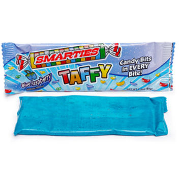 Smarties Taffy Candy Packs - Blue Raspberry: 12-Piece Display