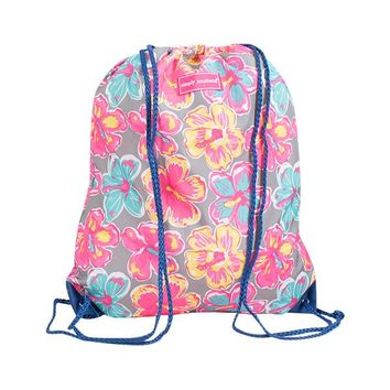 "Simply Southern ""Floral"" Drawstring Bag"