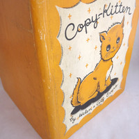 Rare Childrens Book, Copy Kitten, First Edition, Cat Story, Pre Little Golden Book, 1930s Vintage Hardcover
