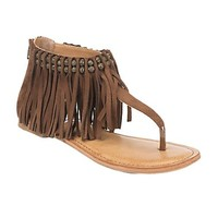 Not Rated Tan with Fringe Solene Sandal