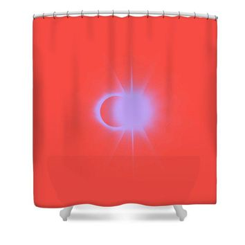 Solar Eclipse, Diamond Ring 2a - Shower Curtain