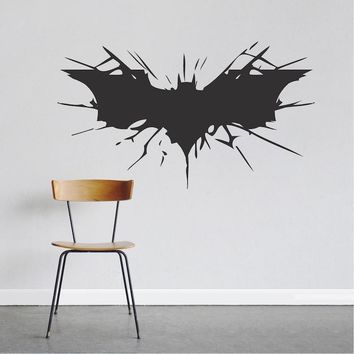 Batman Dark Knight gift Christmas Batman Wall Decal Boys Bedroom Removable Animal Wall Stickers Black Silhouette Decals Decor 40 Colors Available Decoration ZA780 AT_71_6