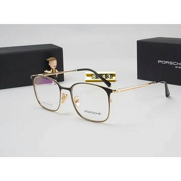 Porsche Couples with color film polarizing sunglasses Gold I-A-SDYJ