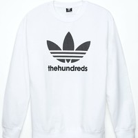 adidas - The Hundreds Mesh Trefoil Sweatshirt - Mens Hoodie - White