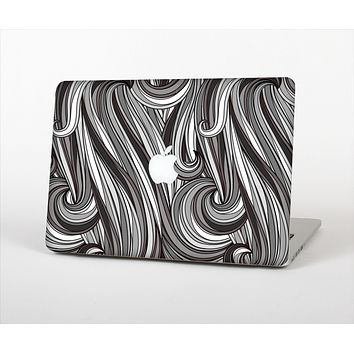 The Black & Gray Monochrome Pattern Skin Set for the Apple MacBook Pro 15""