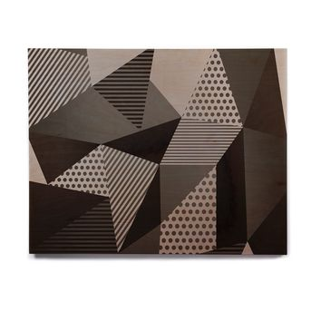 "Louise Machado ""Gray Pallete"" Black Gray Birchwood Wall Art"