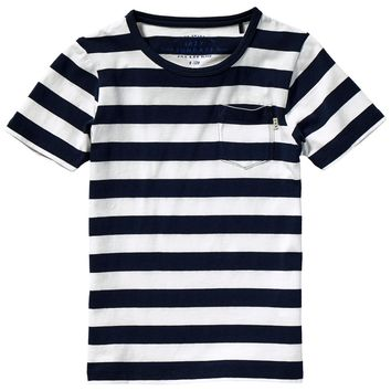 Scotch & Soda Boys Striped Navy T-shirt