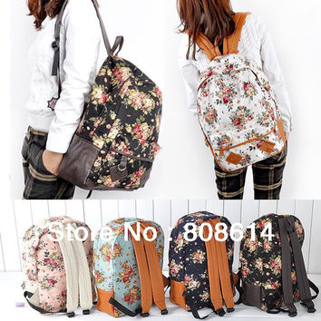 Fashion Fresh Garden Style Floral Ladies Variety Suit Backpack Free Shipping-in Casual Daypacks from Luggage & Bags on Aliexpress.com