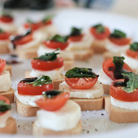 Basil, Bocconcini, Tomato Toasts | Flickr - Photo Sharing!