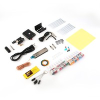 1 Set Complete Equipment Tattoo Machine Gun 14 Color Inks Power Supply Cord Kit Body Beauty tattoo makeup DIY Tools high quality