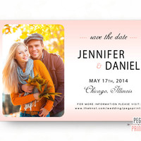 Photo Save the Date (Printable) Save the Date Photo Card // Save the Date Cards Wedding // Picture Save the Date // Custom Printable Card