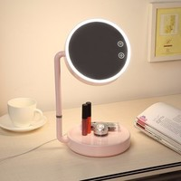 LED Lighted Makeup Mirror USB Wide View Rotatable Adjustable Stand Desk Bedside Lamp is on sale - NewChic Mobile.