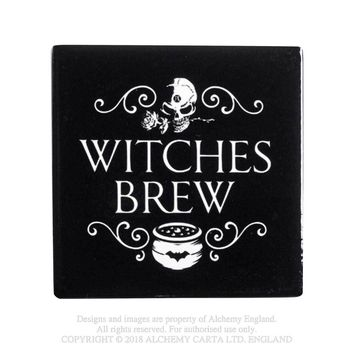 Alchemy Gothic Witches Brew Coaster Cauldron Home Decor