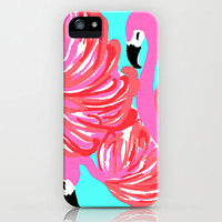 pink flamingo (Lilly Pulitzer style) iPhone & iPod Case by uramarinka | Society6