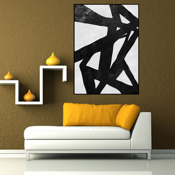 Abstract art, large abstract painting, large abstract canvas art, abstract wall art, black white painting canvas art, large wall art canvas