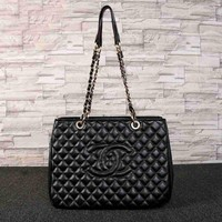 CHANEL Women Fashion Shopping Leather Tote Shoulder Bag Handbag Satchel