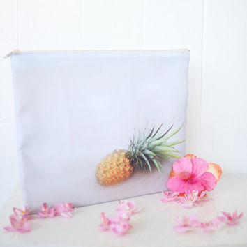 Beach Pineapple Clutch/Makeup Bag/Laptop Cover