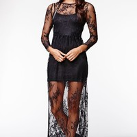 Reverse Vamp Glam Dress - Womens Dress - Black