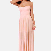 Blaque Label Aurora Peach Maxi Dress