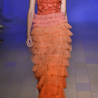 Ombre Tiered Tulle Gown | Moda Operandi