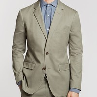 The Foundation Slim Suit Jacket - Cotton - Olive