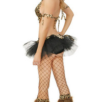 Sexy Cave Babe Set With Shaggy Boot Covers