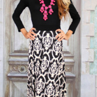 Late Night Date Maxi Dress - Modern Vintage Boutique